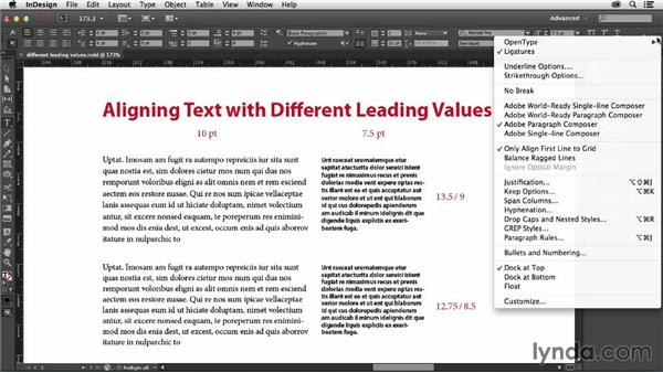 Accommodating paragraphs with different leading: Designing with Grids in InDesign