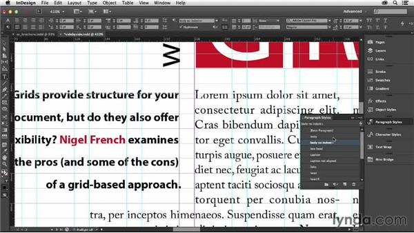 Working with side-by-side paragraphs on a grid: Designing with Grids in InDesign