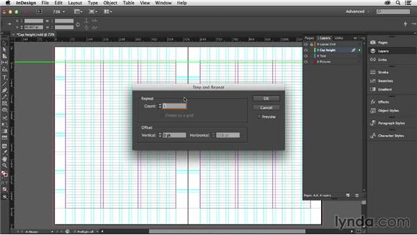 Creating a cap-height grid: Designing with Grids in InDesign