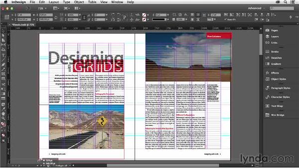 Working with bleeds and crossovers: Designing with Grids in InDesign
