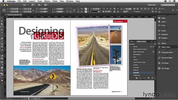 Rotating images and text: Designing with Grids in InDesign