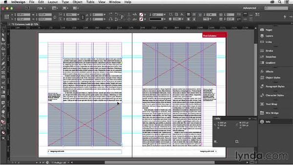 Using a five-column grid: Designing with Grids in InDesign