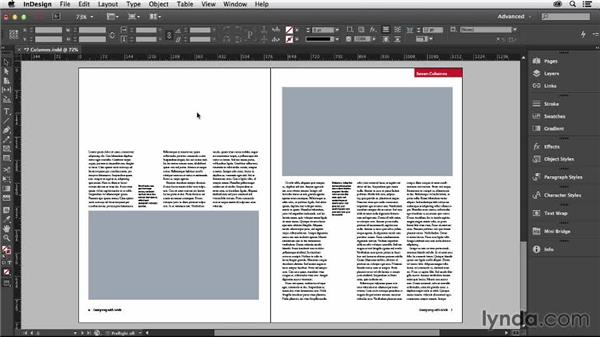 Using a seven-column grid: Designing with Grids in InDesign