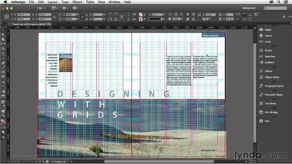 Maximizing white space with a grid: Designing with Grids in InDesign