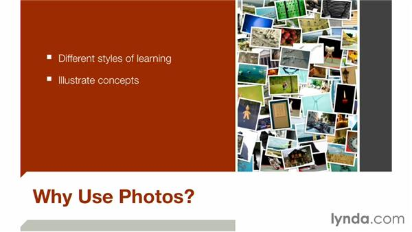 Why use photos?: Keynote: Using Photos and Videos Effectively for Great Presentations