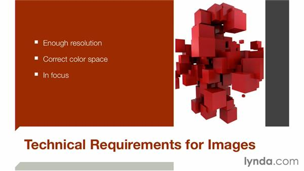 Technical requirements for presentation images: Keynote: Using Photos and Videos Effectively for Great Presentations