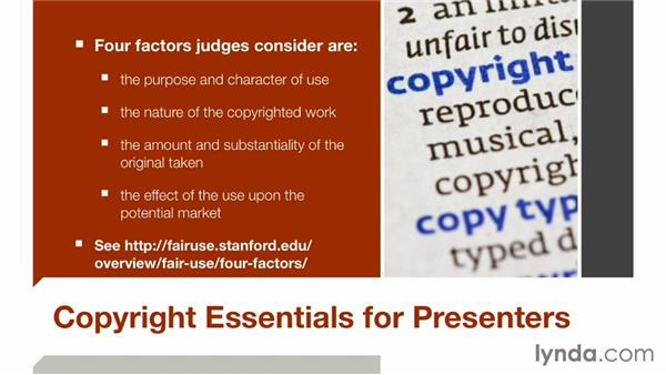 Copyright essentials for presenters: Keynote: Using Photos and Videos Effectively for Great Presentations