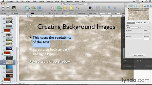 Creating background images: Keynote: Using Photos and Videos Effectively for Great Presentations