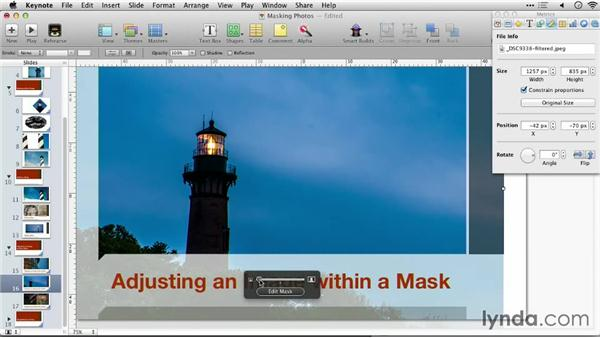 Adjusting an image within a mask: Keynote: Using Photos and Videos Effectively for Great Presentations