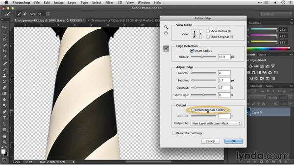 Adding transparency with Photoshop: Keynote: Using Photos and Videos Effectively for Great Presentations