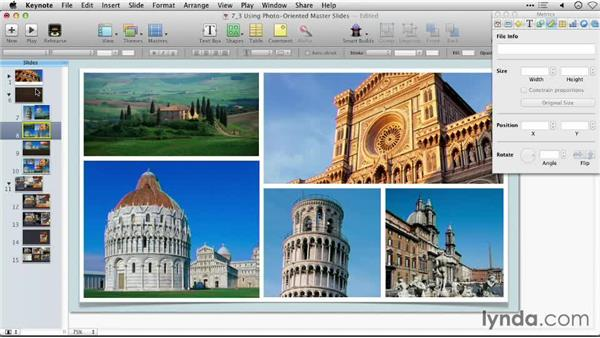 Using photo-oriented themes: Keynote: Using Photos and Videos Effectively for Great Presentations