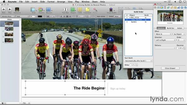 Using builds to reveal photos: Keynote: Using Photos and Videos Effectively for Great Presentations