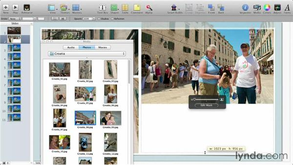 Populating a theme: Keynote: Using Photos and Videos Effectively for Great Presentations
