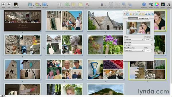 Adding transitions between slides: Keynote: Using Photos and Videos Effectively for Great Presentations