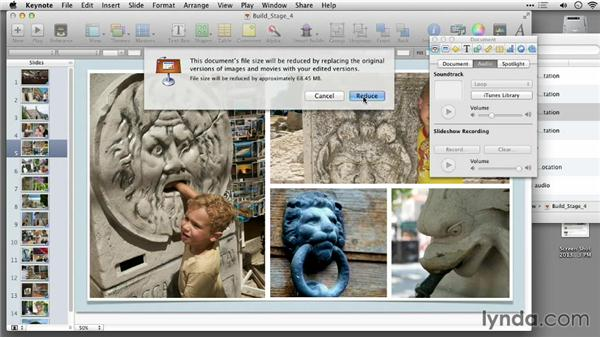 Reducing a slideshow: Keynote: Using Photos and Videos Effectively for Great Presentations