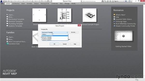 Starting a project using Revit templates: Revit MEP 2014 Essential Training