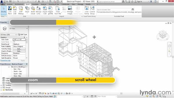 Linking other models: Revit MEP 2014 Essential Training