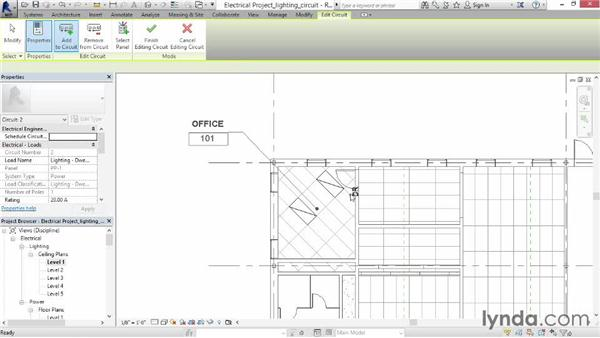 Creating a lighting circuit: Revit MEP 2014 Essential Training