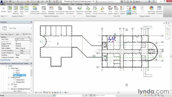Creating a plumbing view: Revit MEP 2014 Essential Training
