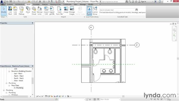 Adding fixtures and domestic supply piping: Revit MEP 2014 Essential Training