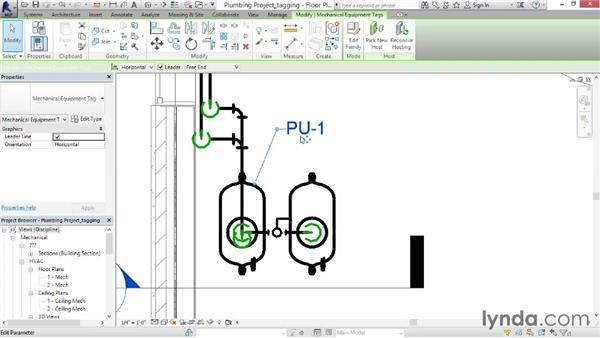 Tagging items: Revit MEP 2014 Essential Training