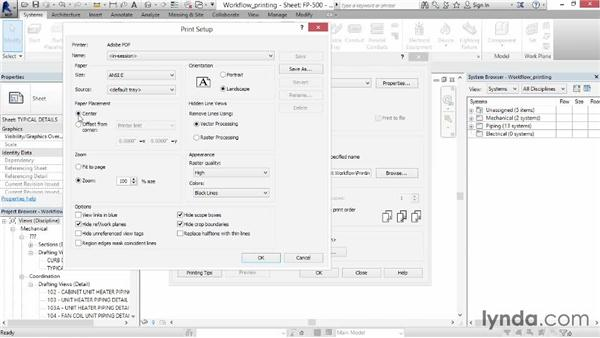 Printing sheets: Revit MEP 2014 Essential Training
