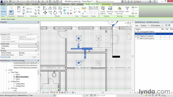 Using phasing: Revit MEP 2014 Essential Training