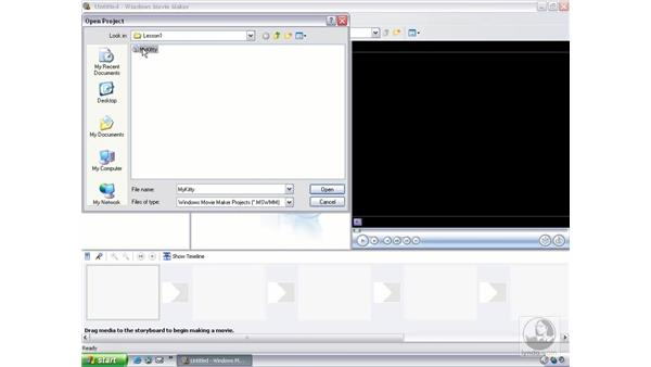 opening a movie maker project: Learning Windows Movie Maker 2