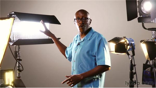 Looking at different light options: Video Production Techniques: Location Lighting