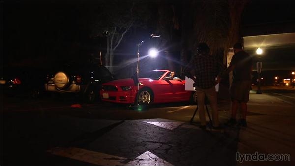Shooting outdoors at night: Video Production Techniques: Location Lighting