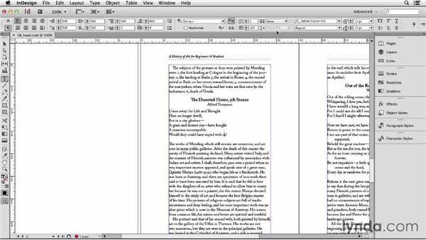 114 Setting poetry, flush left, center on longest line: InDesign Secrets