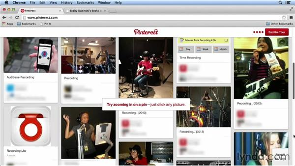 Creating a personal account: Pinterest for Musicians and Bands