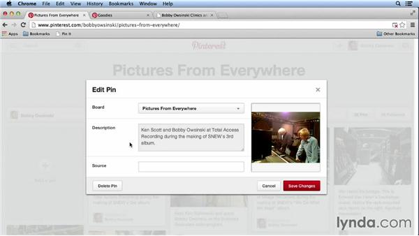 Pinning an image: Pinterest for Musicians and Bands