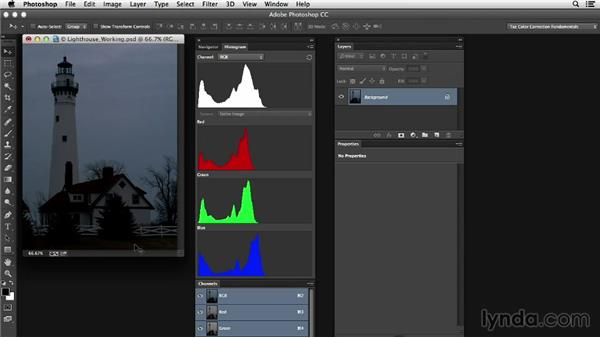 Image evaluation: Photoshop Color Correction: Dark Color Cast