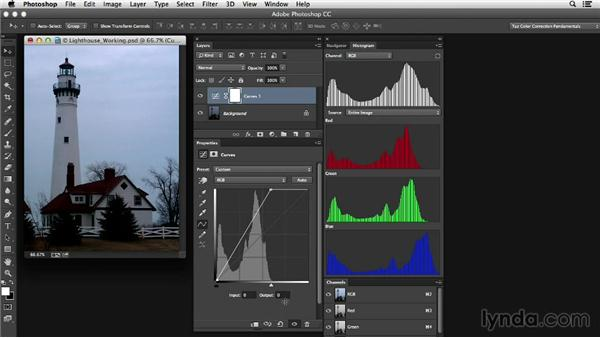 Step-by-step adjustment: Maintaining the color cast: Photoshop Color Correction: Dark Color Cast