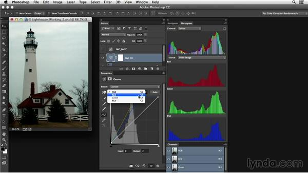 Step-by-step adjustment: Removing the color cast: Photoshop Color Correction: Dark Color Cast