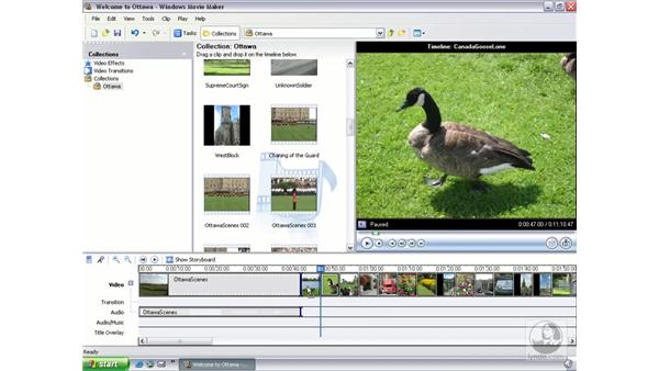 moving and copying clips: Learning Windows Movie Maker 2