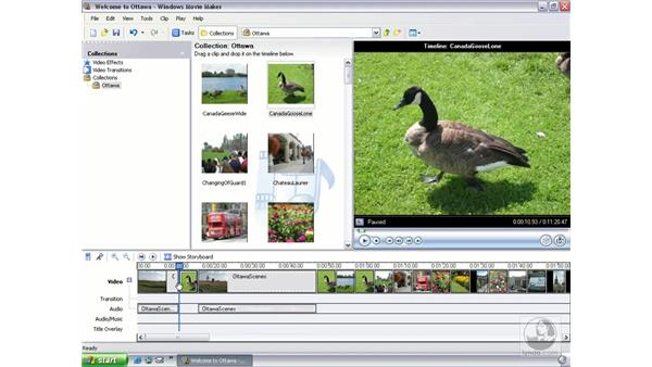 splitting and combining clips: Learning Windows Movie Maker 2