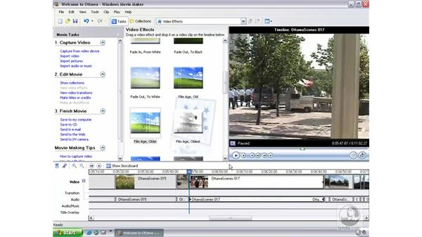 adding video effects: Learning Windows Movie Maker 2