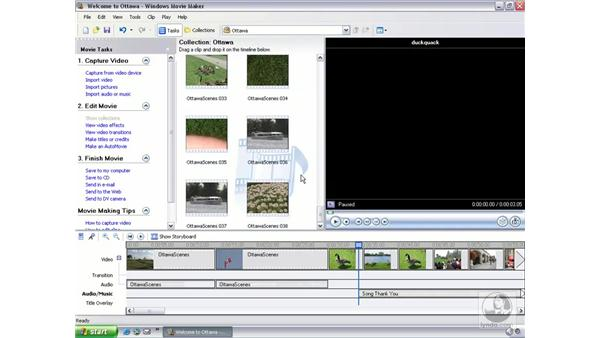 adding sound effects: Learning Windows Movie Maker 2