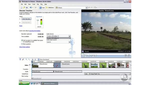 recording narration: Learning Windows Movie Maker 2