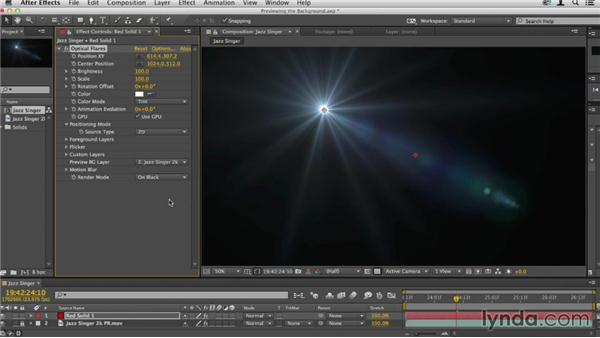 Previewing the background: Up and Running with Optical Flares