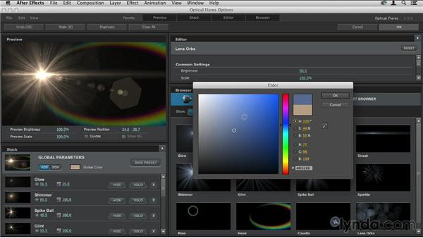 Exploring lens objects: Up and Running with Optical Flares