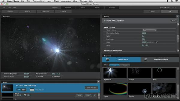 Using lens textures: Up and Running with Optical Flares