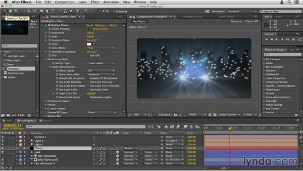 Using After Effects lights as flares: Up and Running with Optical Flares