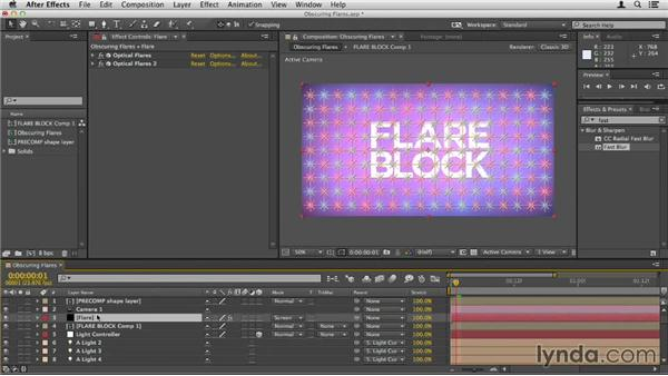 Obscuring flares with other layers: Up and Running with Optical Flares