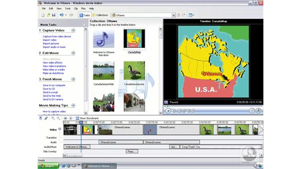inserting your own graphic files: Learning Windows Movie Maker 2