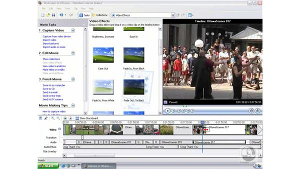 previewing and last minute adjustments: Learning Windows Movie Maker 2