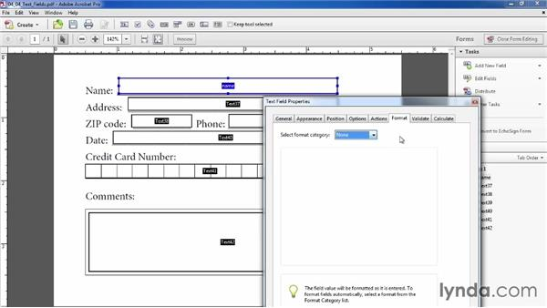Creating text fields: Acrobat XI: Creating Forms