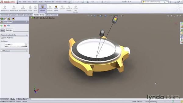 Adding lighting: SOLIDWORKS Rendering with PhotoView 360